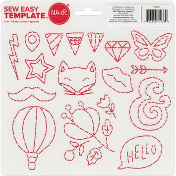 We R Memory Keepers Sew Easy Templates 8 X8.25 -Icon