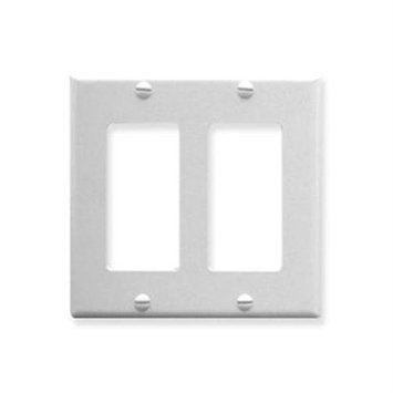 ICC IC107DFDWH Double Gang Decorex Faceplate - 2-gang - White