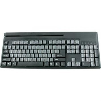 Wasp Technologies Wasp Barcode Technologies 633808471286 Wasp Wkb-1155 Pos Keyboard With Magstripe Reader USB