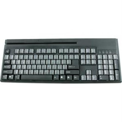 Wasp Technologies Wasp Barcode Technologies 633808471286 Wasp Wkb-1155 Pos Keyboard With Magstripe Reader USB