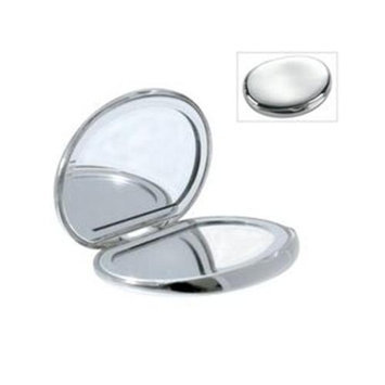 Natico Originals 60-1402 Compact Mirror, Oval, Silver