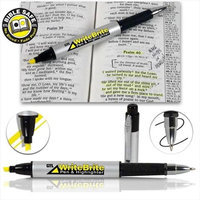 G T Luscombe Co G T Luscombe 63554 Write Brite Pen & Highlighter - Yellow