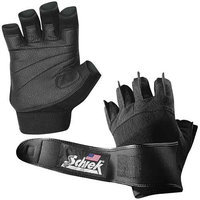 Schiek Sports, Inc. Platinum Gel Lifting Gloves with Wrist Wrap in Black