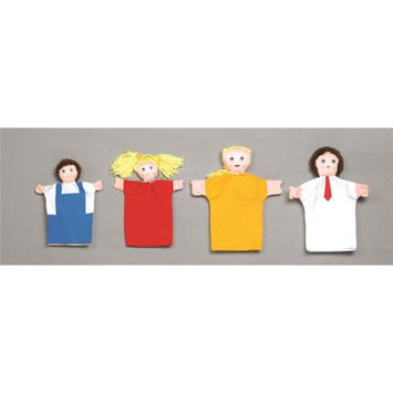 Childrens Factory Hand Puppets Set of 4 - Caucasian Family