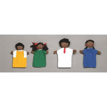 Childrens Factory Children s Factory CF100-722 Black Family Hand Puppets