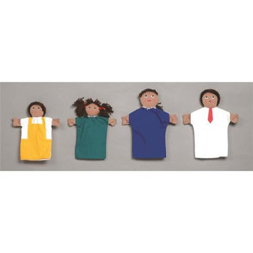 Childrens Factory Hispanic Family Hand Puppets - Set of 4