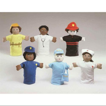 Childrens Factory Children s Factory CF100-807 Set of 6 Career Puppets
