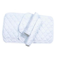 Imported Horse & supply - Quilted Leg Wrap- White Assorted - 174672