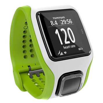 Tomtom - Runner Cardio GPS Watch With Heart Rate Monitor - Green/white