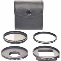 Bower 5-Piece 52mm Filter Kit for GoPro HERO3, HERO3+, HERO+ LCD and HERO4 Cameras