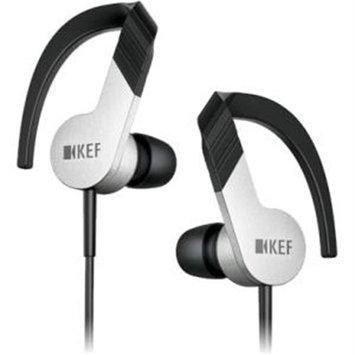 KEF Aluminum/Black M200 Hi-Fi In-Ear Headphones, Aluminum/Black