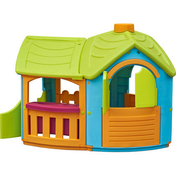 Tot's Play Play Structures. Villa Playhouse with Extension
