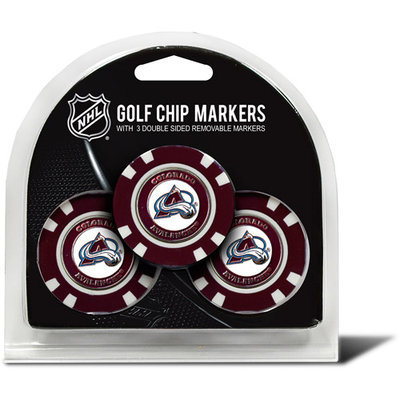 Team Golf Colorado Avalanche 3-pack Poker Chip Ball Markers