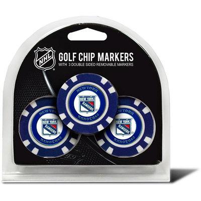 Team Golf New York Rangers 3-pack Poker Chip Ball Markers