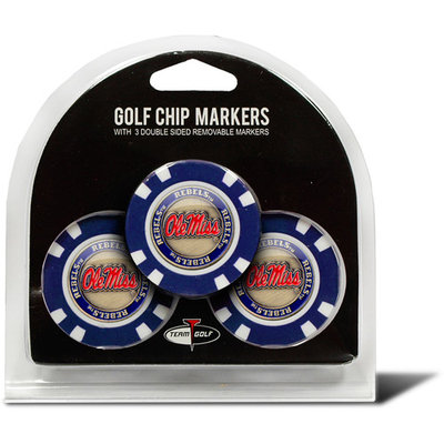 Team Golf Ole Miss Rebels 3-pack Poker Chip Ball Markers