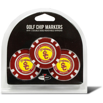 Team Golf USC Trojans 3-pack Poker Chip Ball Markers
