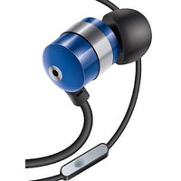 Accessory Power GOgroove AudiOHM HF Earphones Headphones w/ Hands-Free Microphone - Blue