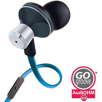 Accessory Power GOgroove AudiOHM iDX Earbud Headphones, Blue