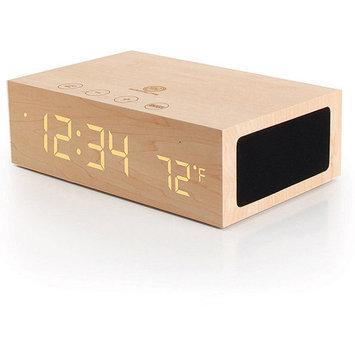 Accessory Power GOgroove BlueSYNC TYM Bluetooth Wireless Stereo Speaker / Wood Alarm Clock
