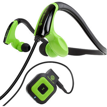 Accessory Power GOgroove BlueVIBE CFT Bluetooth Behind-The-Head Headphones, Green