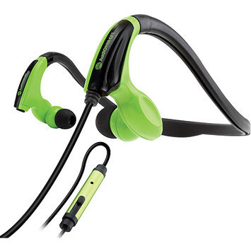 Accessory Power GOgroove AudiOHM CFT Behind-The-Head Headphones, Green