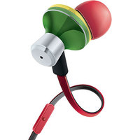 Accessory Power GOgroove AudiOHM iDX Earbud Headphones, Rasta