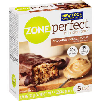 NEW Zone Perfect Nutrition Bar Chocolate Peanut Butter 30 Count 1 76 Oz each