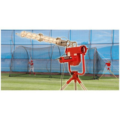 I Pitching Machines Trend Sports Heater Pro Pitching Machine and Xtender 24' Cage