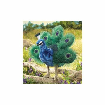 Folkmanis Puppets SMALL PEACOCK Plush Hand Puppet