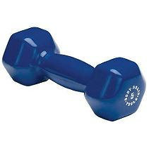 Body-Solid BSTVD5 5 Pound Vinyl Dumbbell in Blue