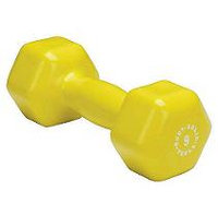 Body-Solid BSTVD9 9 Pound Vinyl Dumbbell in Yellow