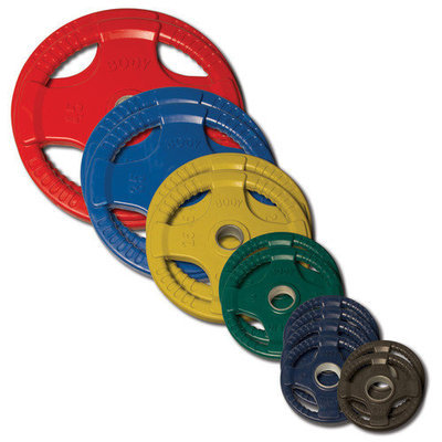 ORCT255 Olympic 255lb Colored Rubber Grip Plate Set