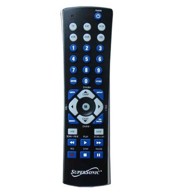 Supersonic SC-26 UNIVERSAL REMOTE FOR TV DVD AUX VCR SAT CABLE BLACK