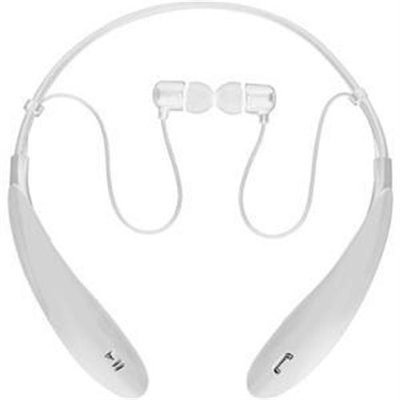 Supersonic IQ Sound Bluetooth Wireless Headphones and Mic - Stereo - White - Wireless - Bluetooth - 32.8 ft - 16 Ohm - 20 Hz - 20 kHz - Earbud, Behind-the-neck - Binaural - In-ear