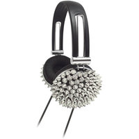 Supersonic IQ-214SL High Performance Spiked Headphones Silver