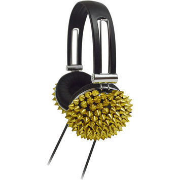 Supersonic IQ-214GD High Performance Spiked Headphones Gold
