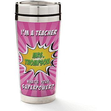Personalized Planet Pink Super Teacher Personalized 8-Oz. Travel Mug