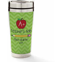 Personalized Planet 'Teacher's Aide' Personalized 16-Oz. Travel Mug