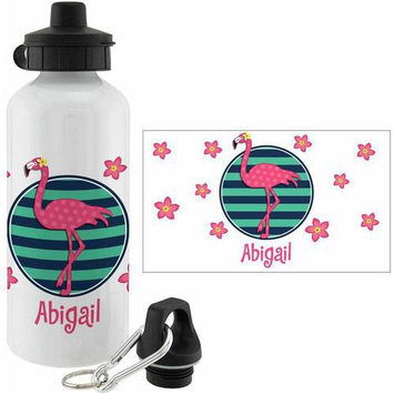 Personalized Planet Pink Flamingo Personalized 20-Oz. Water Bottle