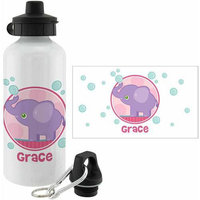 Personalized Planet Pink Sweet Elephant Personalized 20-Oz. Water Bottle