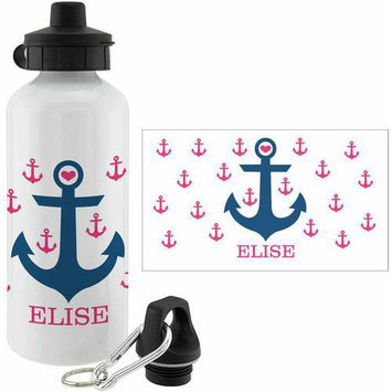Personalized Planet Pink Anchor Personalized 20-Oz. Water Bottle