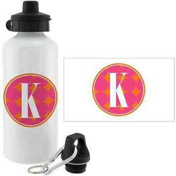 Personalized Planet Pink Polka Dot Personalized 20-Oz. Water Bottle