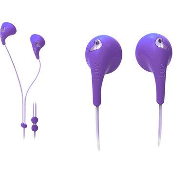 Jwin Electronics Corporation iLuv IEP205PUR Bubble Gum Ii Earphones, Purple