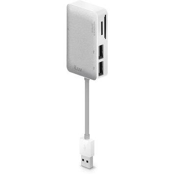 Jwin Electronics Corporation Jwin ICB718WHT Card Reader With USB Hub Pwr