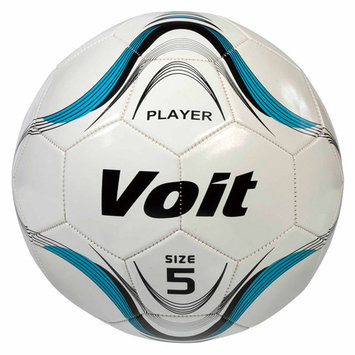 Voit Player Official Size 5 Soccer Ball White/Blue Graphic