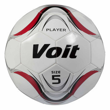 Voit Player Official Size 5 Soccer Ball White/Blue Graphic - LION SPORTS INC.
