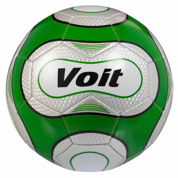 Lion Sports Voit Size 5 Reflect Soccer Ball Deflated - Silver and Green Graphic