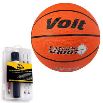 Lion Sports Voit Catch and Shoot Size 7 Rubber Basketball with Ultimate Inflating Kit