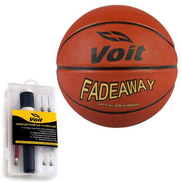 Lion Sports Voit Fadeaway Size 7 Rubber Basketball with Ultimate Inflating Kit