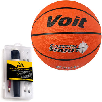 Voit 32108-12 12 Pack Size 5 Size 7 Catch and Shoot Rubber Basketball with Ultimate Inflating Kit